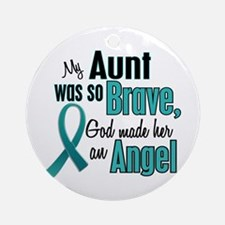 Angel 1 TEAL (Aunt) Ornament (Round)