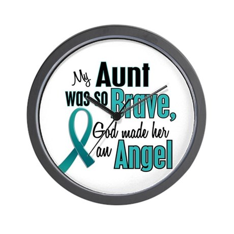 Angel 1 TEAL (Aunt) Wall Clock