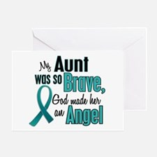 Angel 1 TEAL (Aunt) Greeting Card