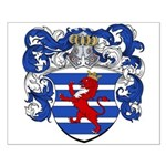 Van Der Hoeven Coat of Arms Small Poster