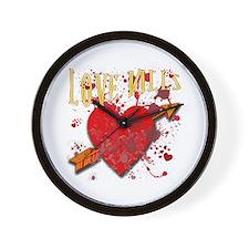 Love Kills Anti Valentines Day Wall Clock