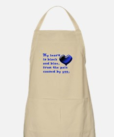 Black and Blue Heart BBQ Apron