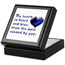 Black and Blue Heart Keepsake Box