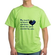 Black and Blue Heart T-Shirt