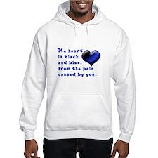 Black and Blue Heart Hoodie