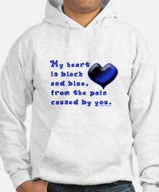 Black and Blue Heart Hoodie