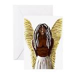Rastafarian Archangel Michael Greeting Cards (Pk o