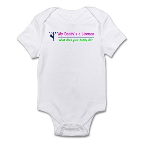 My Daddy is a Lineman for gir Infant Bodysuit