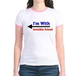 I'm With Invisible Friend Jr. Ringer T-Shirt