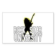 Rock Star U. Guitar Rectangle Decal