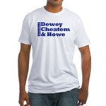 DEWEY CHEATEM AND HOWE Fitted T-Shirt