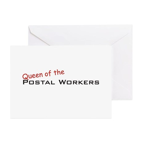 Postal Workers / Queen Greeting Cards (Pk of 10)