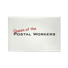 Postal Workers / Queen Rectangle Magnet