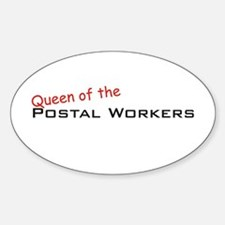Postal Workers / Queen Oval Decal