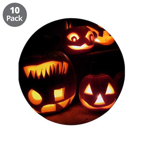 """Halloween Pumpkins 3.5"""" Button (10 pack)"""