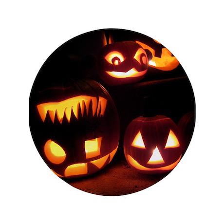 """Halloween Pumpkins 3.5"""" Button"""