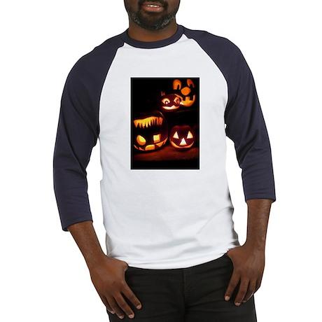 Halloween Pumpkins Baseball Jersey