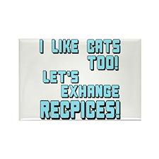 I Like Cats Too Recipes Rectangle Magnet