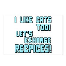I Like Cats Too Recipes Postcards (Package of 8)