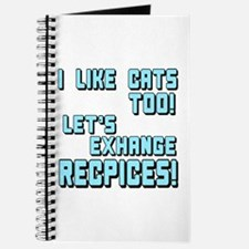 I Like Cats Too Recipes Journal