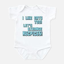 I Like Cats Too Recipes Infant Bodysuit