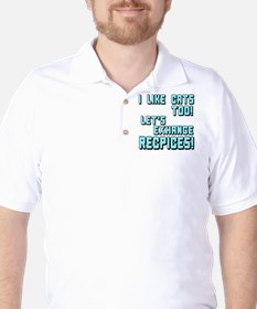 I Like Cats Too Recipes T-Shirt