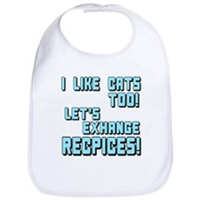 I Like Cats Too Recipes Bib