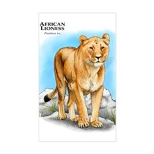 African Lioness Rectangle Decal