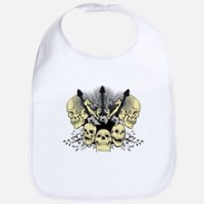 3 Guitars Skulls Bib