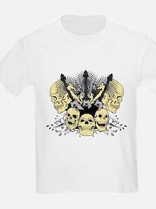 3 Guitars Skulls T-Shirt
