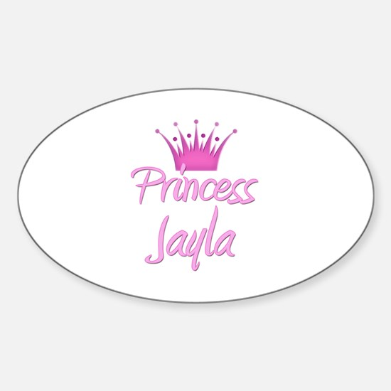 Princess Jayla Oval Decal