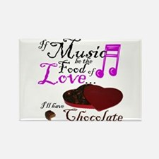 Chocolate Over Love Rectangle Magnet