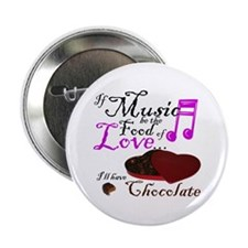 """Chocolate Over Love 2.25"""" Button"""