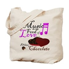 Chocolate Over Love Tote Bag