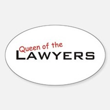 Lawyers / Queen Oval Decal