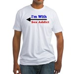 I'm With Sex Addict Fitted T-Shirt