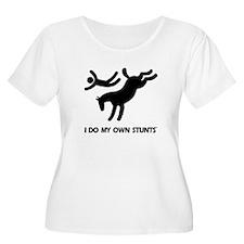 Horse I Do My Own Stunts Women's Plus Size T-Shirt