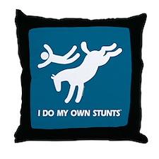 Horse I Do My Own Stunts Throw Pillow