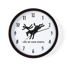 Horse I Do My Own Stunts Wall Clock