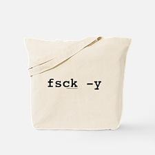 fsck -y Tote Bag