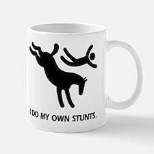Horse I Do My Own Stunts Small Mugs