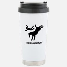 Horse I Do My Own Stunts Travel Mug