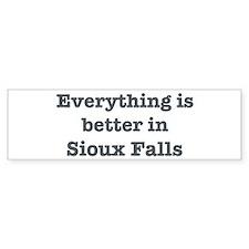 Better in Sioux Falls Bumper Bumper Sticker