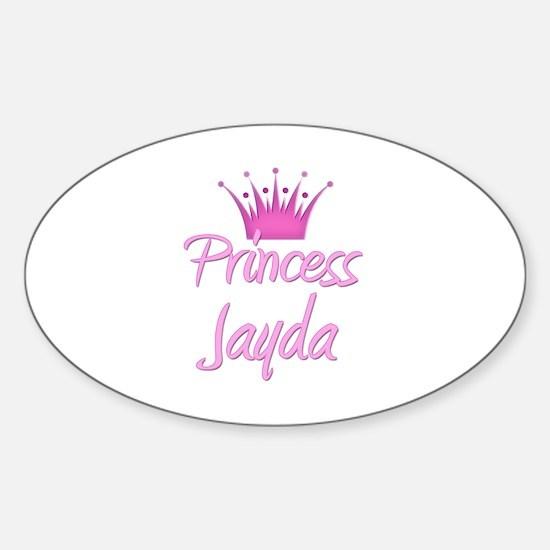 Princess Jayda Oval Decal