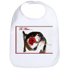 Te Amo Boxer Dog Bib