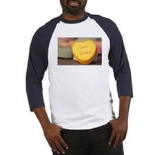 """Love Stinks"" Candy Heart Baseball Jersey"