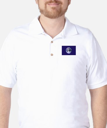 Earth Day Flag Golf Shirt