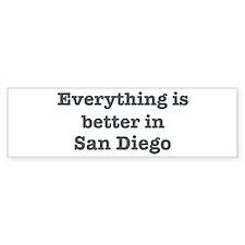 Better in San Diego Bumper Sticker