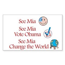 See Mia Vote Obama Rectangle Decal