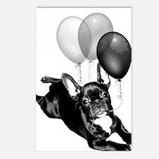 Happy Birthday French bulldog Postcards (Package o